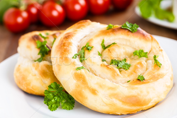 Motani Burek - turkish filled strudel Stock photo © vertmedia