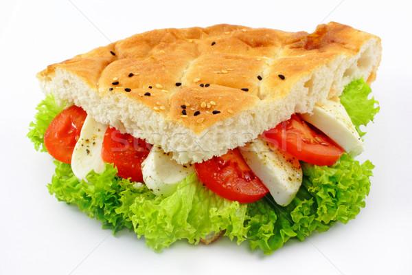 помидоров моцарелла свежие хлеб сыра Салат Сток-фото © vertmedia