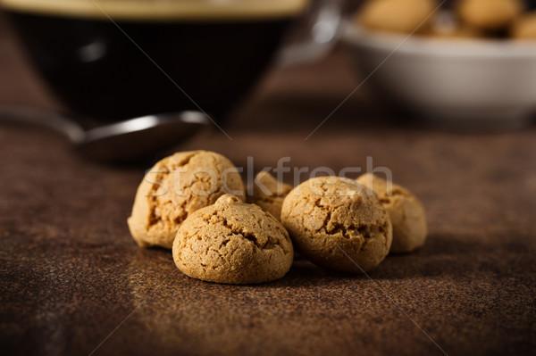Amarettini and coffee Stock photo © vertmedia