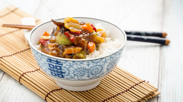 Rice with sweet and sour vegetables Stock photo © vertmedia