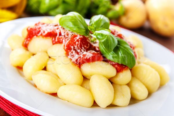 Gnocchi con pomodoro Stock photo © vertmedia