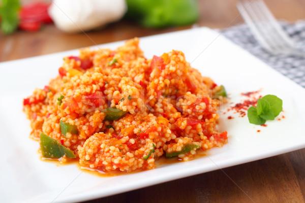 Couscous salada legumes servido pequeno Foto stock © vertmedia