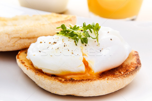 english muffin with egg Stock photo © vertmedia