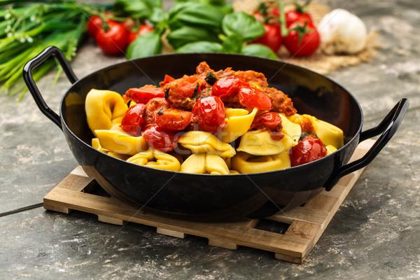 Tomate pesto frescos tomates cherry queso almuerzo Foto stock © vertmedia