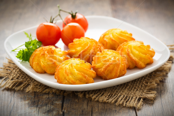 pommes duchesse - potato croquettes Stock photo © vertmedia