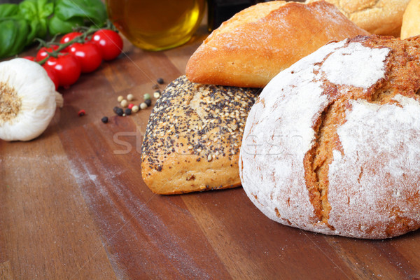 farmhouse bread and buns Stock photo © vertmedia