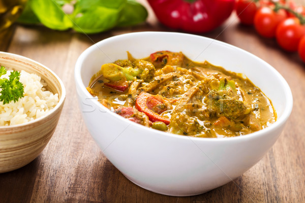 Curry with vegetables Stock photo © vertmedia