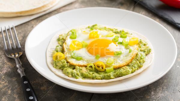 Foto stock: Desayuno · soleado · lado · hasta · huevo