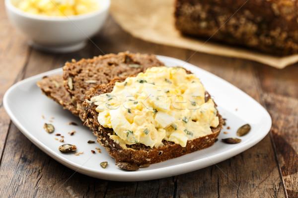 Egg salad and bread Stock photo © vertmedia