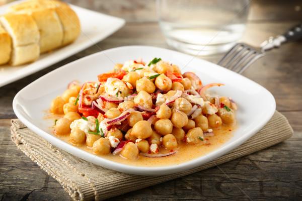 小雞 沙拉 好吃 紅色 蔥 商業照片 © vertmedia