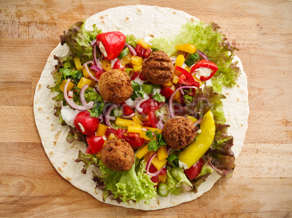 Stock photo: Falafel wrap
