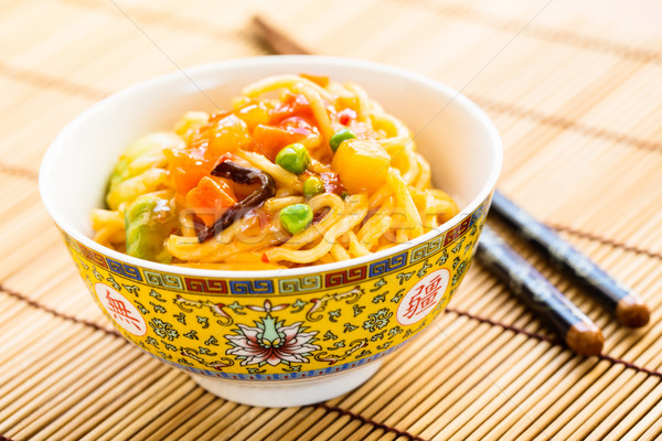 fried noodles with sweet and sour vegetables Stock photo © vertmedia