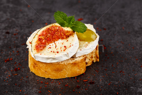 багет Сыр из козьего молока свежие сливочный хлеб сыра Сток-фото © vertmedia