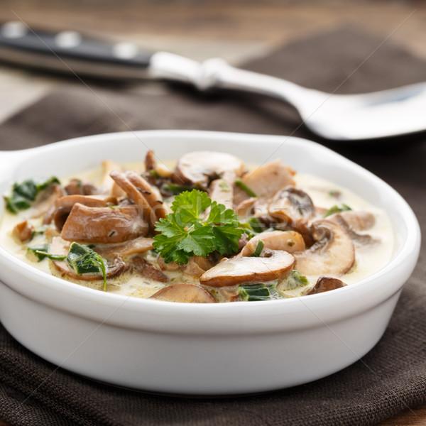 Mushrooms and cream sauce Stock photo © vertmedia