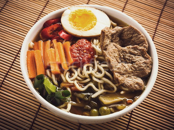 Ramen with vegetables and soy meat Stock photo © vertmedia