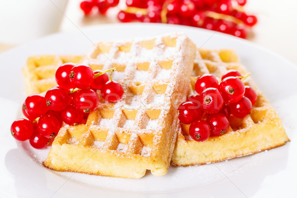 Waffles with currants Stock photo © vertmedia