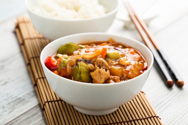 édes fanyar zöldségek szója ázsiai forró Stock fotó © vertmedia
