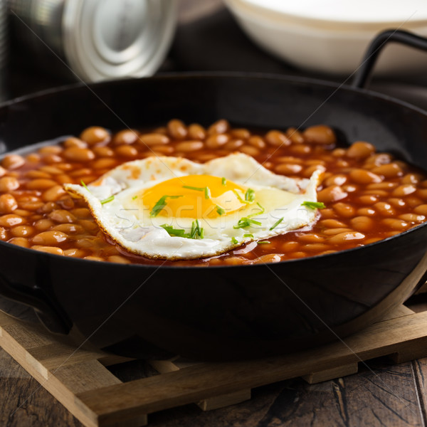 Baked Beans with fried egg Stock photo © vertmedia