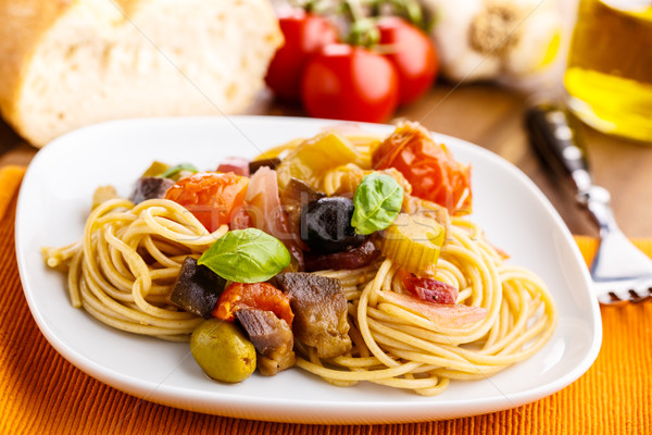 Pasta con caponata Stock photo © vertmedia
