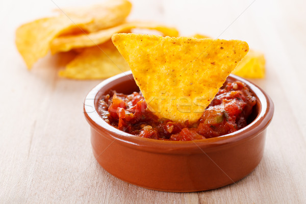 Tortilla chip caliente salsa salsa frito Foto stock © vertmedia