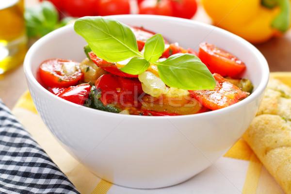 Antipasti vegyes grillezett zöldségek felszolgált kicsi Stock fotó © vertmedia