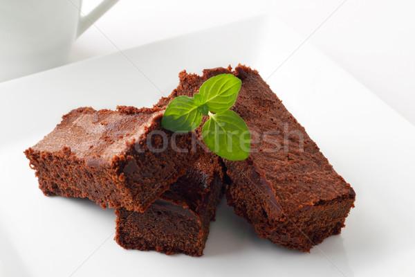 Chocolate brownies Stock photo © vertmedia