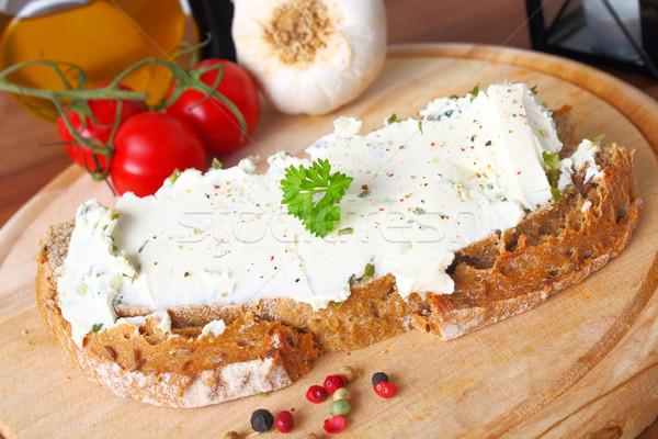 bread with creamcheese  Stock photo © vertmedia