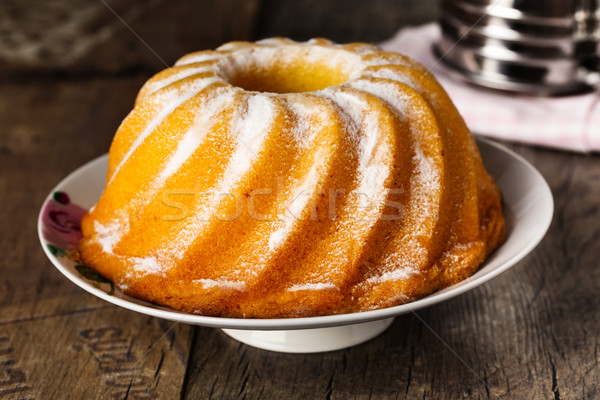 Cake eigengemaakt citroen glazuursuiker voedsel thee Stockfoto © vertmedia