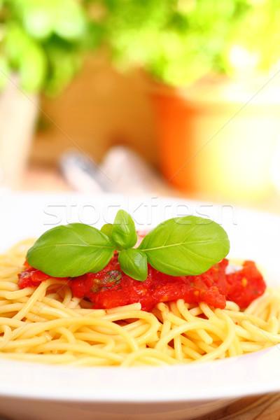 spaghetti with tomato sauce Stock photo © vertmedia