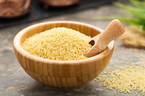 Zdjęcia stock: Kuskus · świeże · gotowany · mięty · obiedzie · pszenicy