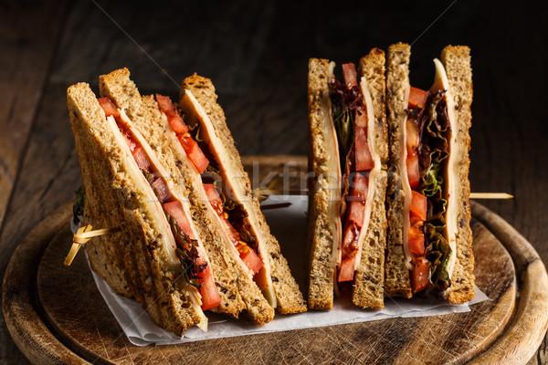 Veggie sandwiches Stock photo © vertmedia