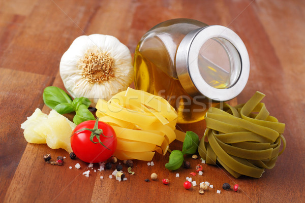 tagliatelle and ingredients Stock photo © vertmedia