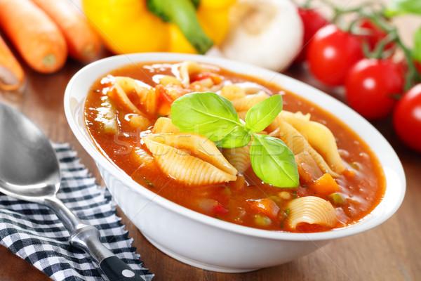 Minestrone - italian soup with veggies Stock photo © vertmedia
