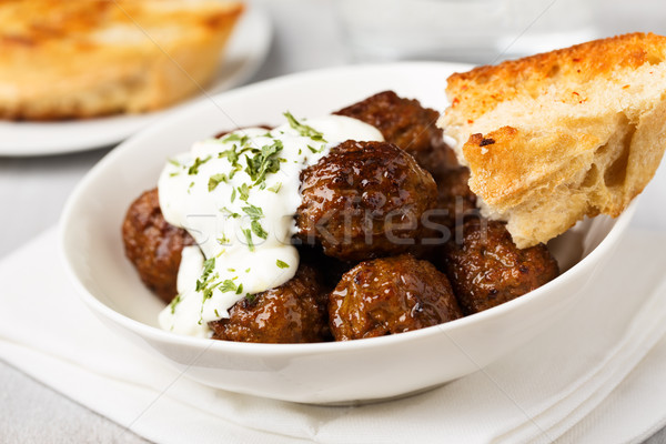 meatballs with tsatziki Stock photo © vertmedia