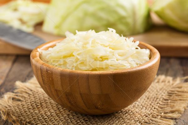 греческий капустный салат домашний служивший небольшой Сток-фото © vertmedia