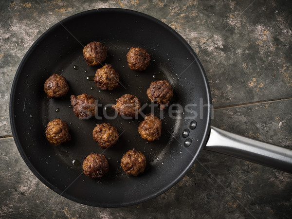 Vegan boulettes de viande servi faible pan balle Photo stock © vertmedia