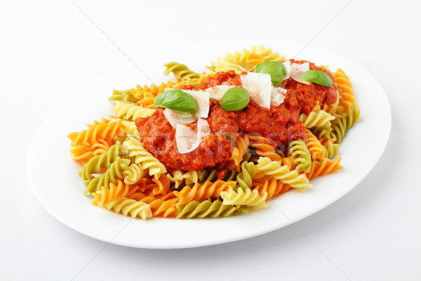 Fusilli Tricolore Bolognese Stock photo © vertmedia