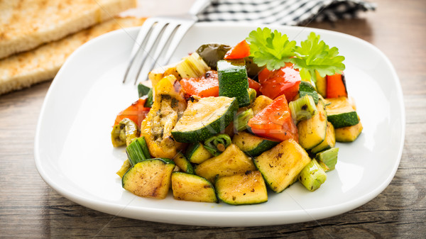 Stock photo: Grilled veggies