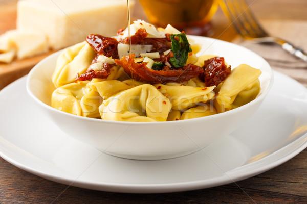 Tortelloni aglio e olio Stock photo © vertmedia