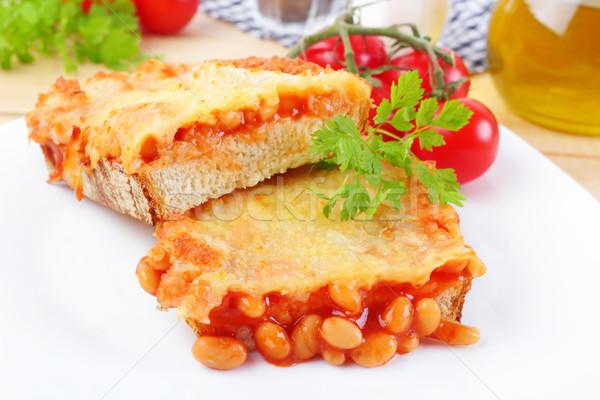 豆 トースト 新鮮な パン 粉チーズ ストックフォト © vertmedia