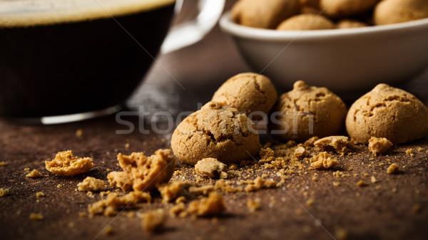 Coffee with Amarettini Stock photo © vertmedia