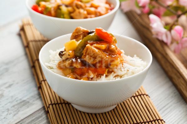 Сток-фото: риса · Sweet · кислый · овощей · соя · азиатских