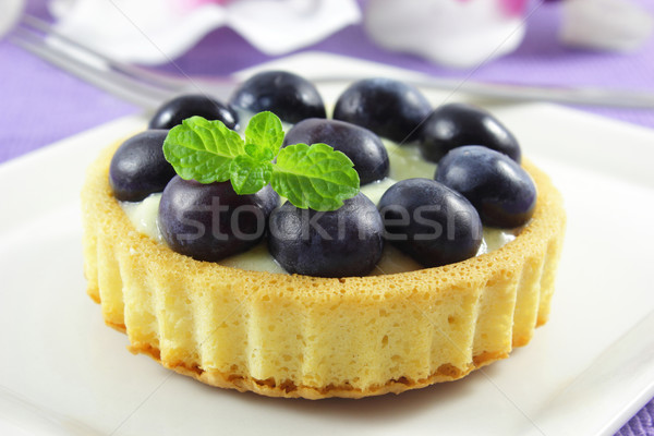 Mirtillo crostata fresche vaniglia frutti dessert Foto d'archivio © vertmedia