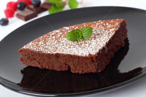 Csokoládés sütemény puha csokoládé mag gyümölcsök cukorka Stock fotó © vertmedia