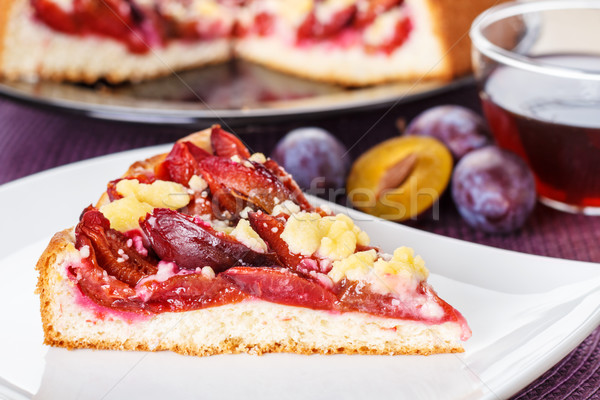 Zwetschgendatschi - plum cake Stock photo © vertmedia