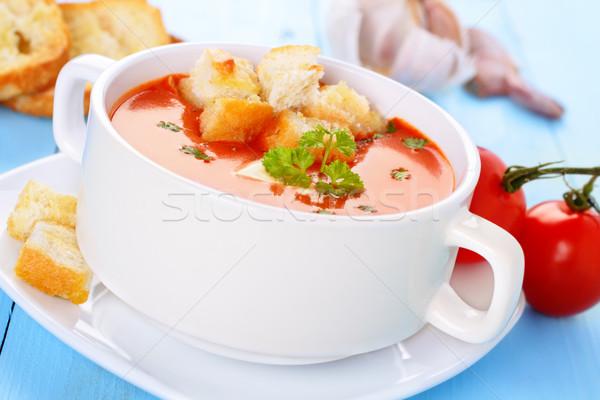 Tomato soup with croutons Stock photo © vertmedia
