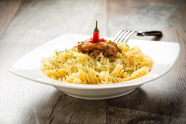 Pasta with chili pesto Stock photo © vertmedia