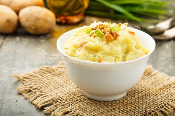 ストックフォト: 玉葱 · 務め · 小 · ボウル