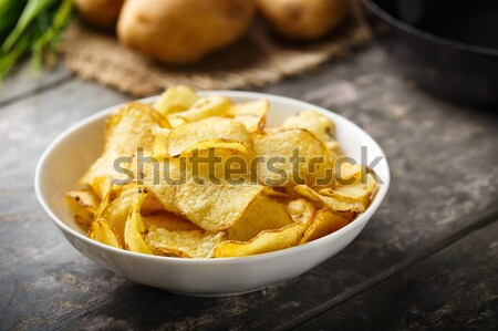 kettle cooked potato crisps Stock photo © vertmedia