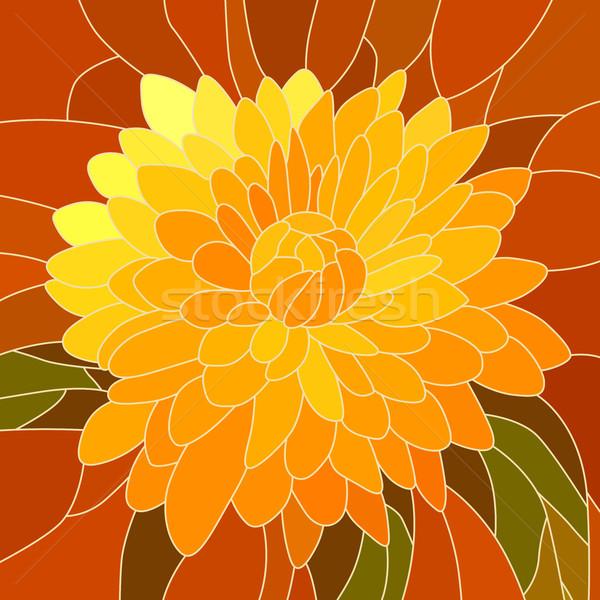 花 黄色 菊 ベクトル モザイク ストックフォト © Vertyr
